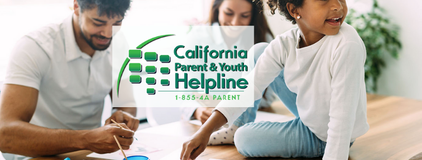 The California Parent And Youth Helpline Banner